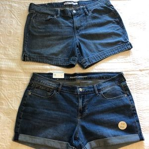 Two Pairs of Size 14 Denim Shorts